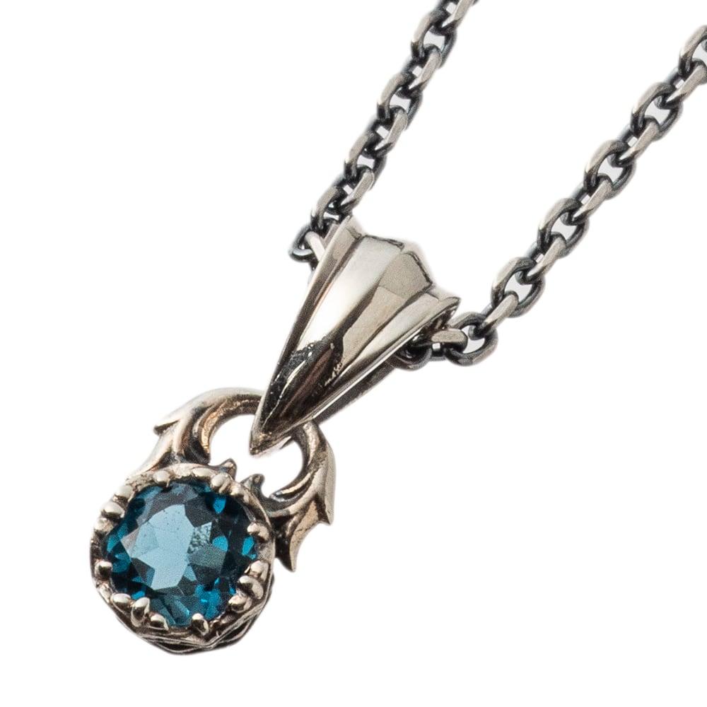ジュエルクラウンペンダント ロンドンブルートパーズ ACP0341 Jewel Crown Pendant London Blue Topaz
