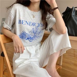 bendicionプリントTシャツ U5937