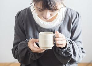 白マット マグカップ(コーヒーカップ)/鈴木美佳子