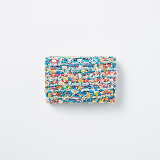 【COOHEM】knit tweed card case check tweed