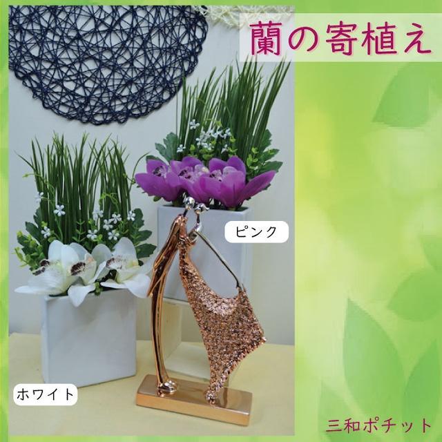 造花 花 蘭 寄せ植え 5342-806 フェイクグリーン インテリアグリーン インテリア 置物 オブジェ ディスプレイ ギフト リビング 玄関 豪華 上品