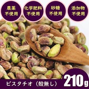 ピスタチオカーナル(殻無し:210g)農薬不使用 化学肥料不使用 無添加 生ナッツ