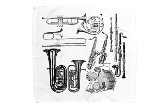 【即日出荷用】楽器柄ミニタオル