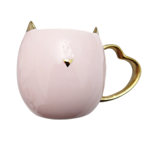 Cat mugcup & fuwafuwa coaster  / ネコちゃんマグカップ&ふわふわコースター