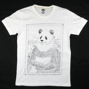 パンダの微笑みも魅惑的?「パナ・リザ」Tシャツ