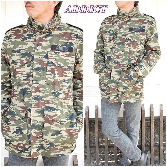 ADDICT ジャケット アディクト ジャケット ナイロン 送料無料 メンズ M-65 メンズ アウター 21802