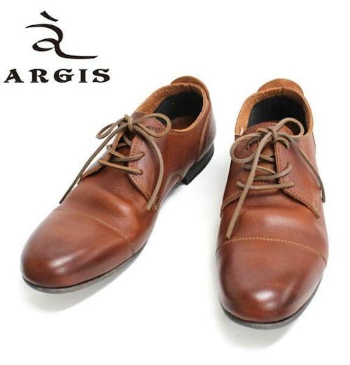 アルジス レザー シューズ カジュアル メンズ 靴 革靴 ARGIS ブラウン