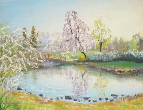 NO.92「しだれ桜と雪柳・4月」