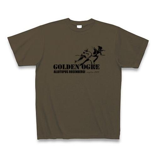 オウゴンオニクワガタ Tシャツ -maylime- オリジナルデザイン オリーブ