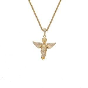 Iced Out Angel Necklace