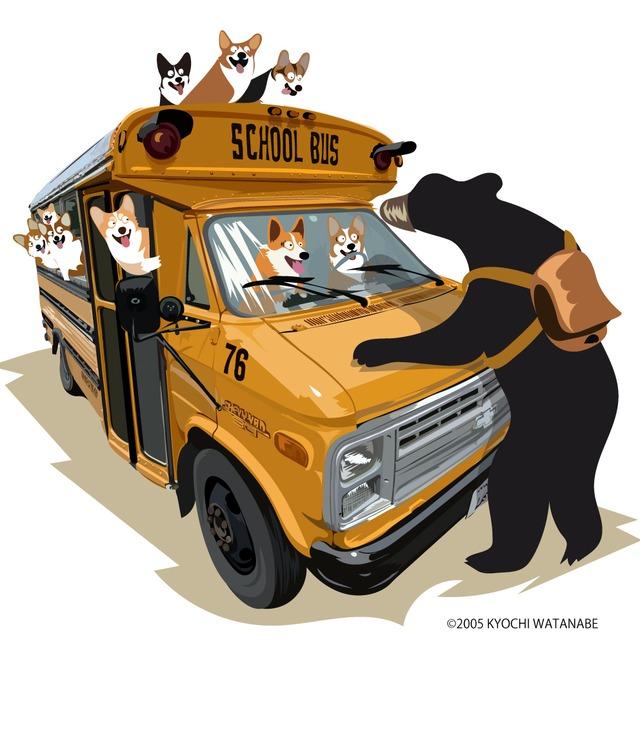 2021-longTS-002  :  秋の新デザイン アメリカンスクールバス・ロンドンバージョン 5.6オンス ラグラン 3/4スリーブ Tシャツ