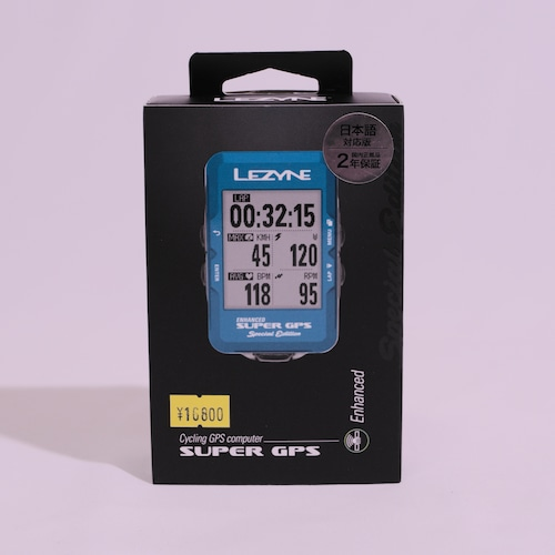 【限定カラー】LEZYNE SUPER GPS【ブルー】