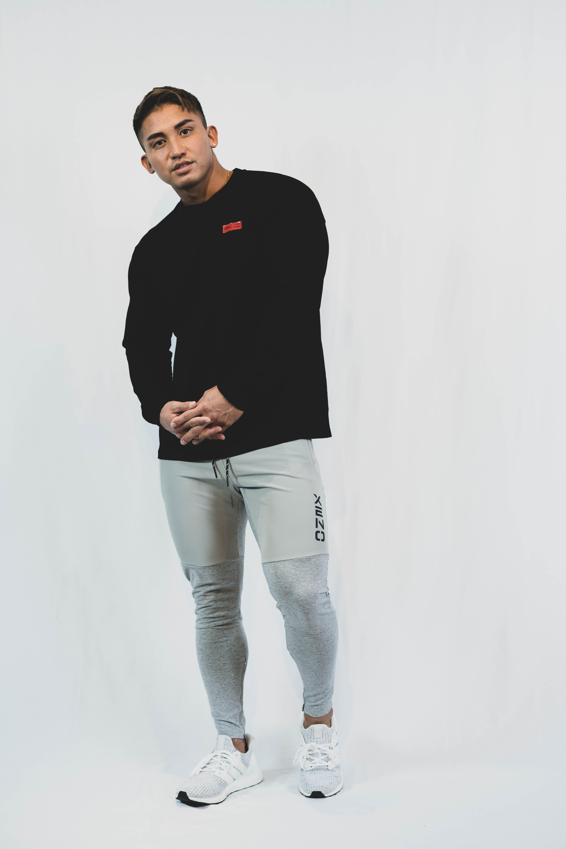 XENO LABEL LS T-shirt BlackRed
