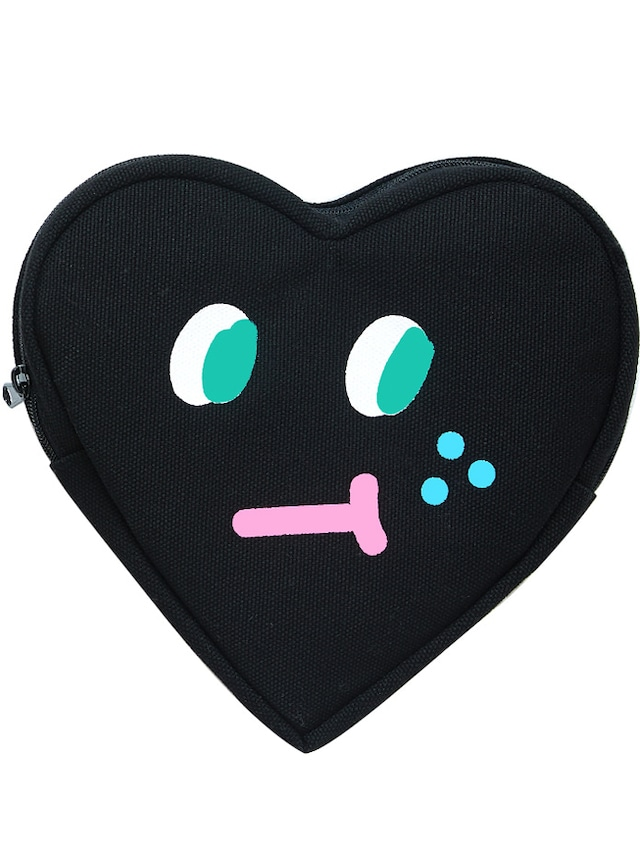 【SLOWCOASTER】BLACK HEART POUCH