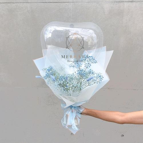 BALLOON FLOWER BOUQUET HEART  L SIZE - san bruno -
