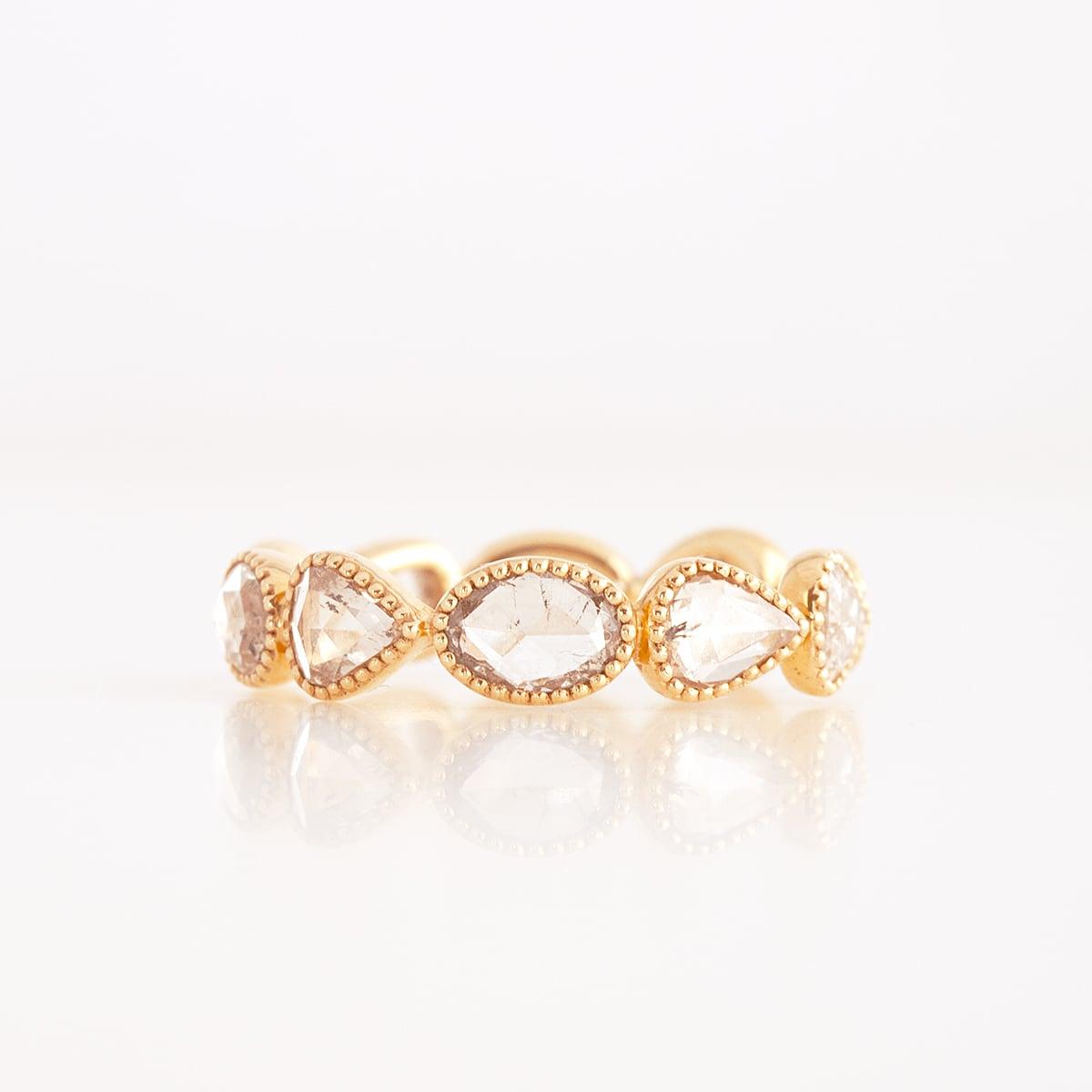 Rosecut diamond full eternity ring / Shape mix