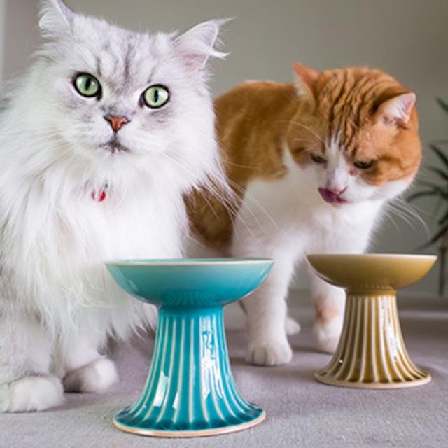モフー×平安楽堂のオリジナル猫用食器皿「永遠の愛」