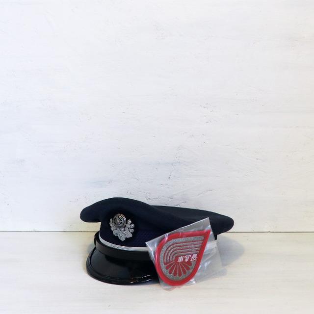 【R-511】国鉄 制帽 昭和46年度車掌帽 エンブレム付(未使用)
