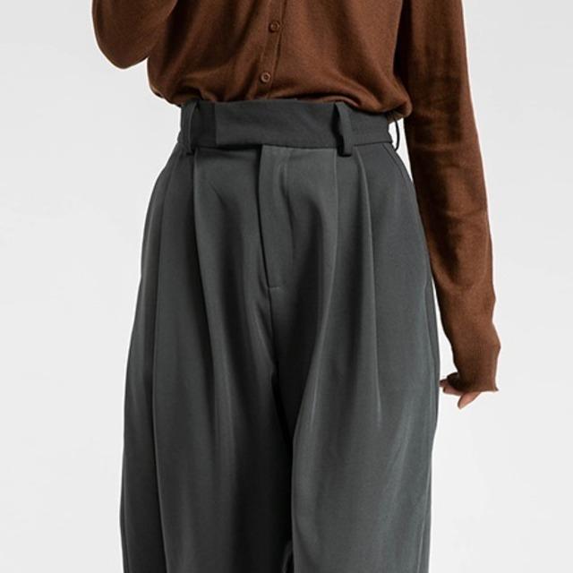 High waist drape pants(ハイウエストドレープパンツ)b-460