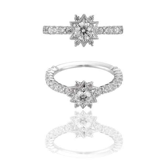 My Étoile Ring / Pt900 3EX H&C Diamond
