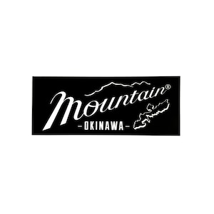 Mountain オリジナルロゴ 長方形ステッカー 150✖️60  ブラック