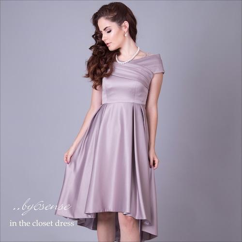 オフショルフィッシュテール・ドレス シャンパンゴールド Dorry Doll(ドリードールドレス)
