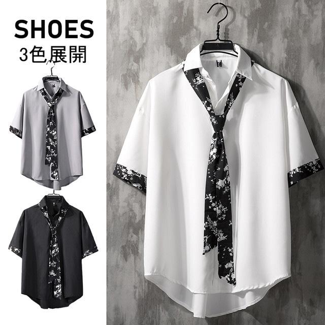 【トップス】韓国系五分袖シングルブレストPOLOネックシャツ29628593