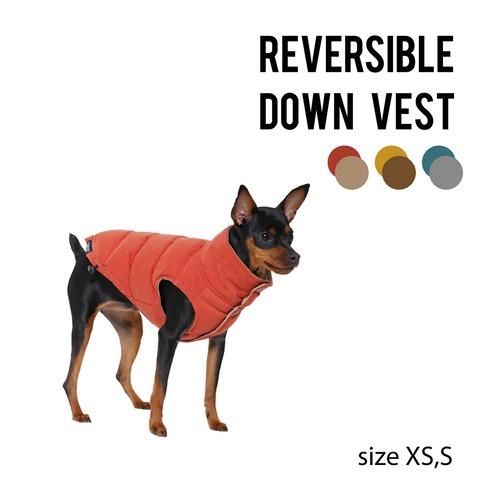 REVERSIBLE DOWN VEST(XS・S) リバーシブルダウンベスト
