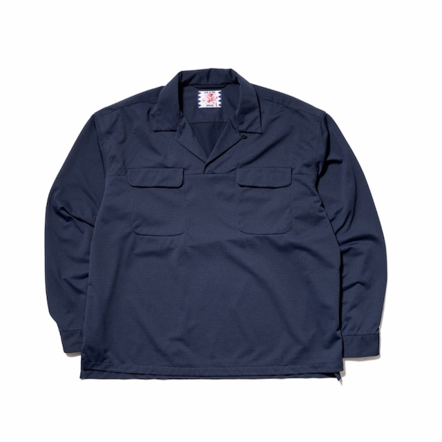 【SON OF THE CHEESE】FLAP P/O Shirt NAVY