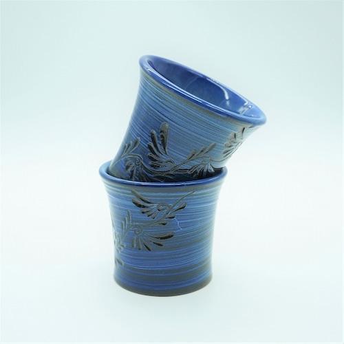青刷毛目シリーズ フリーカップ(小)【壺屋焼窯元 幸陶器】