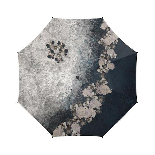 華蝶ブルーホワイト 折りたたみ傘