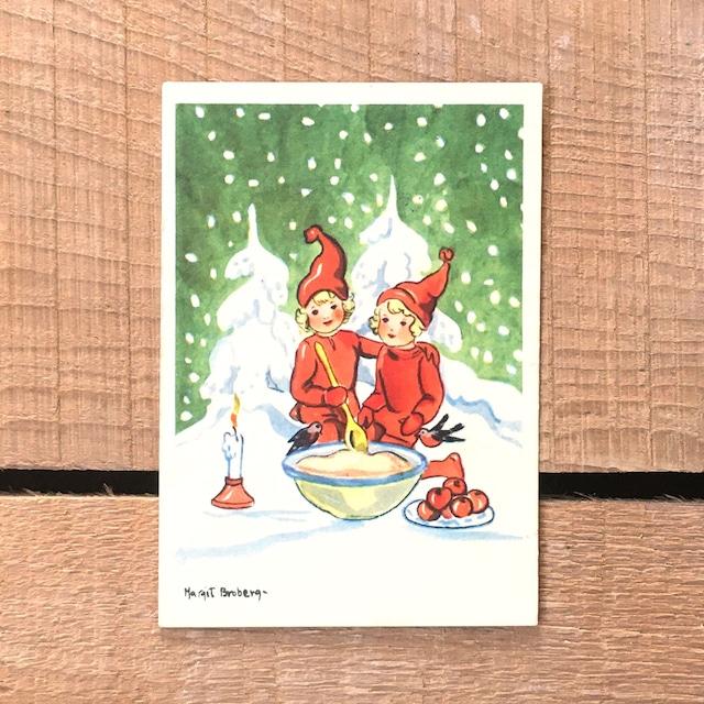 ミニ・クリスマスカード「Margit Ekstam(マルギット・エークスタム)」《200324-05》