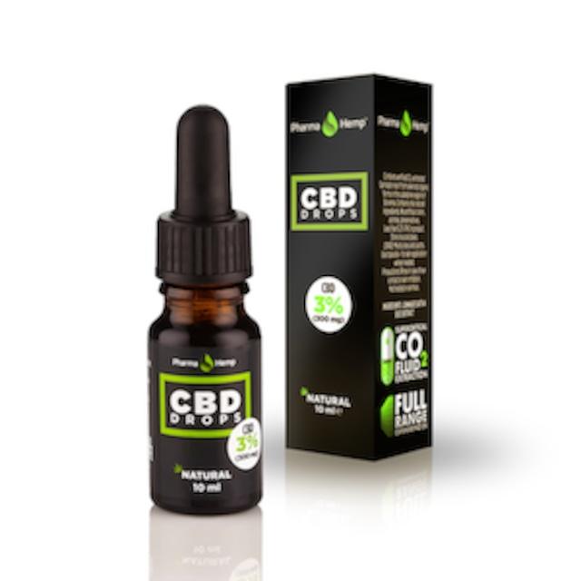 PharmaHemp フルスペクトラム CBDオイル 3% ヘンプシードオイル