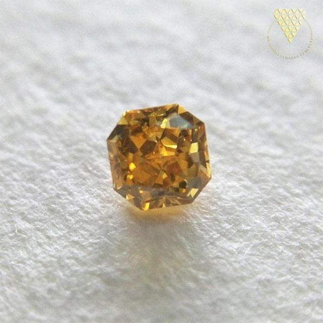 0.103 ct F.Dp.Orange Yellow 天然 ダイヤモンド