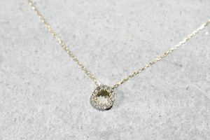 Circle Diamond Necklace / K18YG