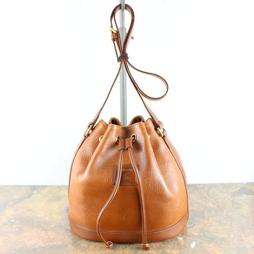 .Burberrys LEATHER DRAWSTRING SHOULDER BAG/バーバリーズレザー巾着型ショルダーバッグ 2000000046716