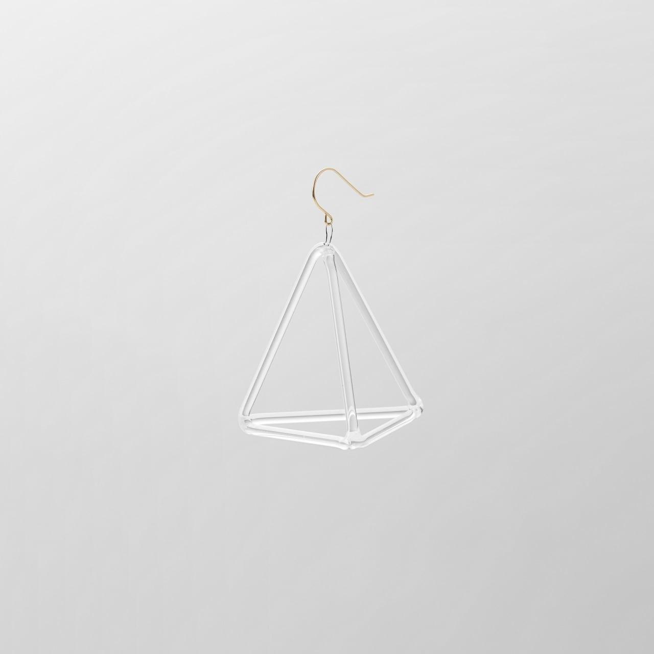 _cthruit シースルーイット triangle pyramid earring ピアス 【Clear】