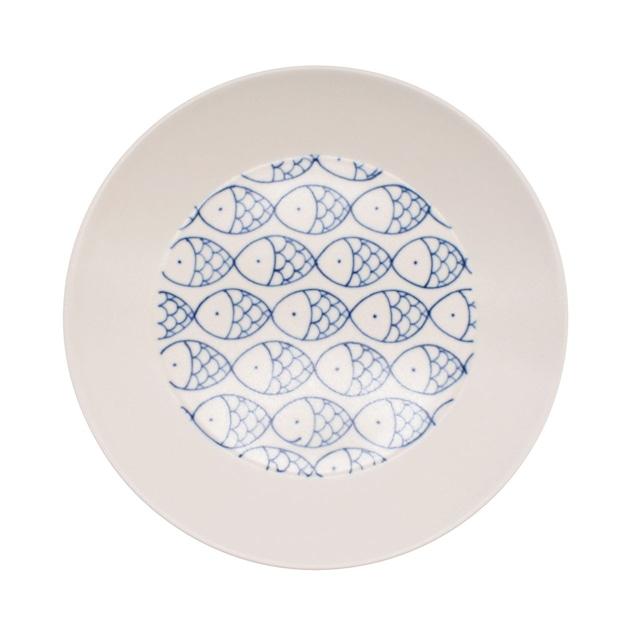 砥部焼 すこし屋 プレート 皿 約17cm さかな 229043
