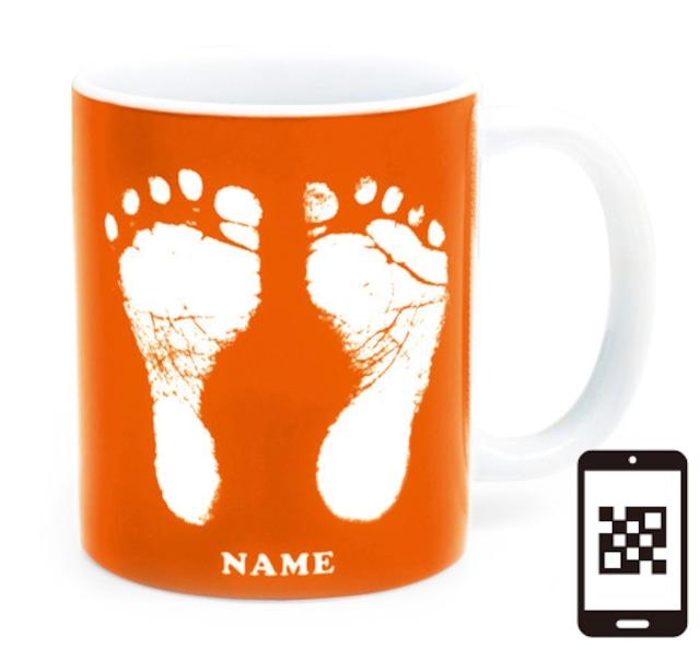 ai mug   A-type (ORANGE) QRコード付き