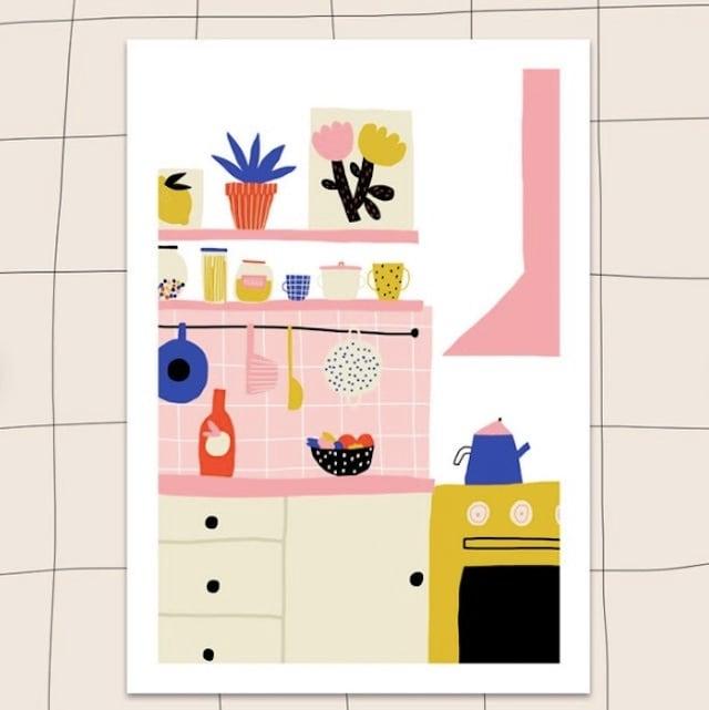 """Jennifer Bouron """"Kitchen"""" A5 print"""