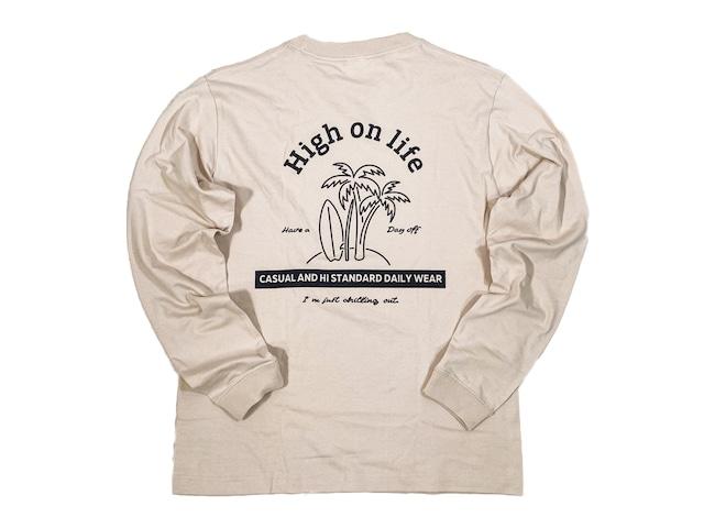 【High on life long sleeve】/ beige