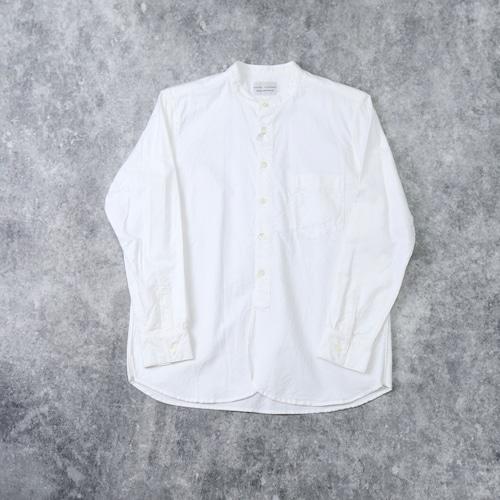 【MANUAL ALPHABET】SUPIMA OX BAND COLOR SHIRT(WHITE) マニュアルアルファベット スーピマオックスバンドカラーシャツ