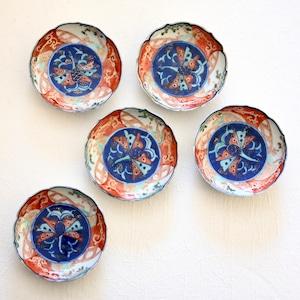 【31033】伊万里 青い鳥 小皿 明治/ Imari Small Plate Blue Bird / Meiji