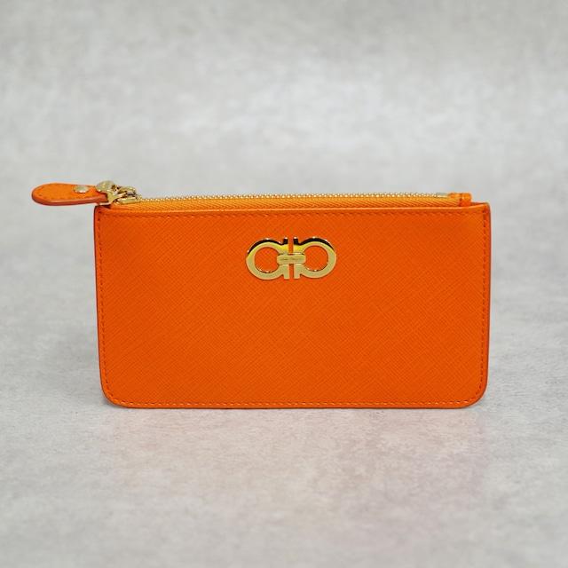 Salvatore Ferragamo フェラガモ ガンチーニ カードケース レザー オレンジ