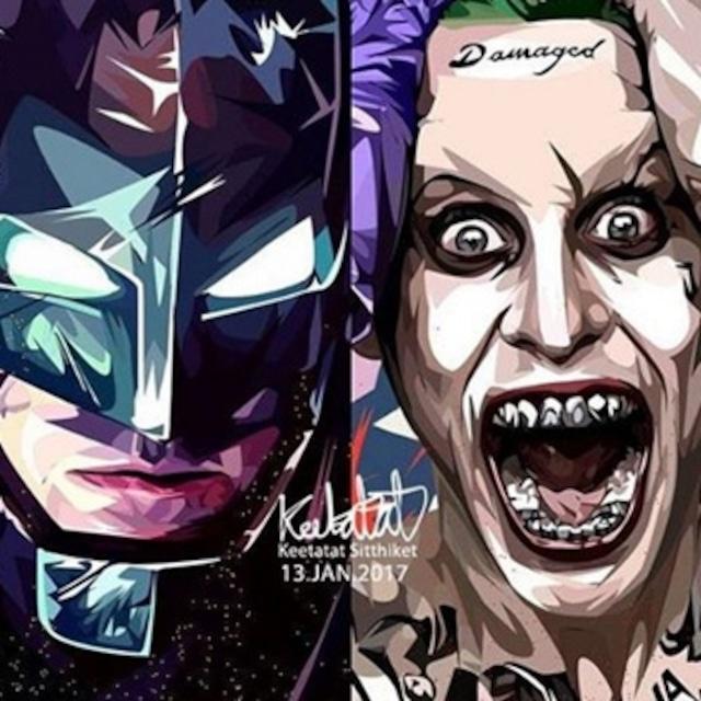 バットマン & ジョーカー/ BATMAN & JOKER VER2 / Lサイズ 52cm / PAPDC_0026