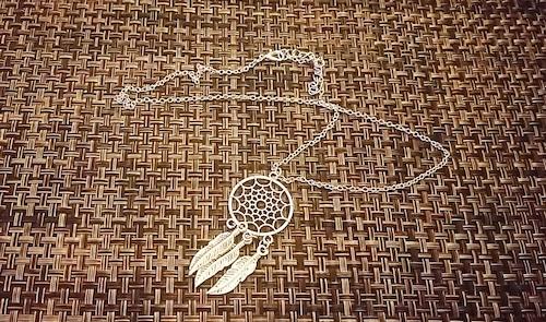 ペンダント 羽 丸形 tibetan silver
