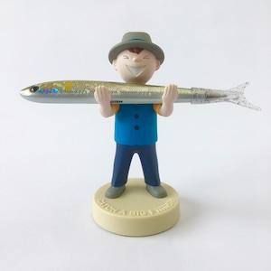 ペンホルダー Fish Boy(Blue Vest)|Pen Holder