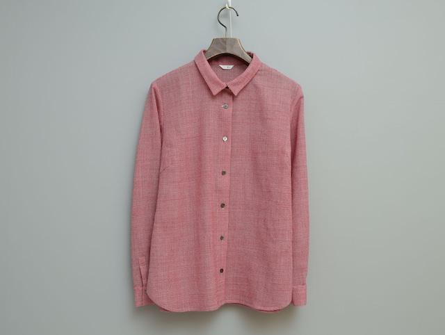 ウール千鳥の角衿シャツ