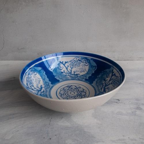青い江戸時代の大皿