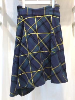 あちゃちゅむ ブラックウォッチ スパンコールスカート